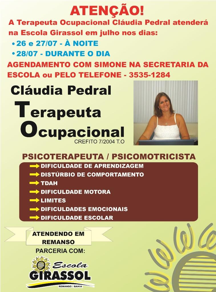 Atendimento Drª. Cláudia Pedral